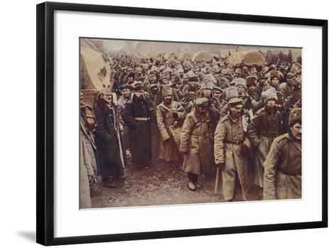 Evacuation of Russian Prisoners, World War I, 1914-1915--Framed Art Print