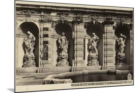 Postcard Depicting the Statues of Nymphs in the Grounds of the Zwinger--Mounted Photographic Print