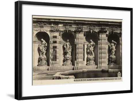 Postcard Depicting the Statues of Nymphs in the Grounds of the Zwinger--Framed Art Print