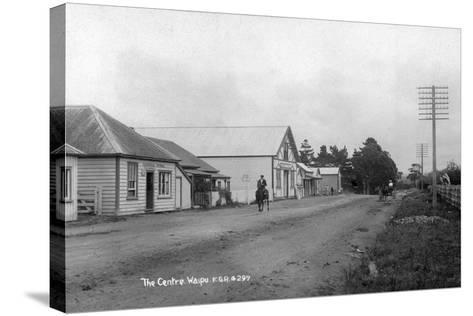 The General Store and Coronation Hall in the Centre of Waipu--Stretched Canvas Print