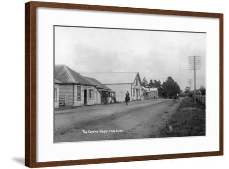 The General Store and Coronation Hall in the Centre of Waipu--Framed Art Print