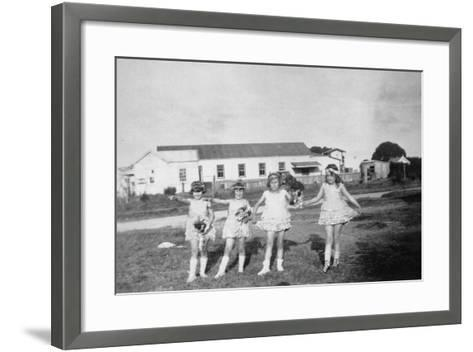 Waipu Hall, with a Film Protectionist's Box at the Rear--Framed Art Print
