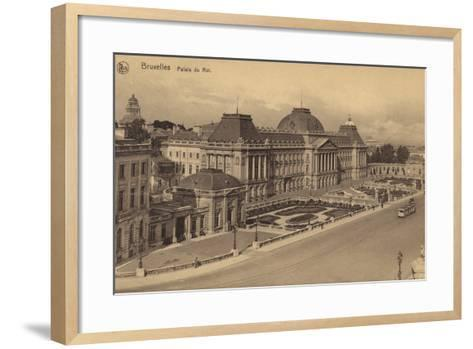 Postcard Depicting a View of the Royal Palace of Brussels--Framed Art Print