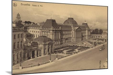 Postcard Depicting a View of the Royal Palace of Brussels--Mounted Photographic Print