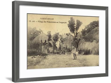 Belgian Congo - Wahorohoro Village in Tanganyika, East Africa--Framed Art Print
