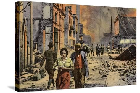 Ruined Buildings on Egnatia Street, Salonika, Greece, World War I, 1917--Stretched Canvas Print