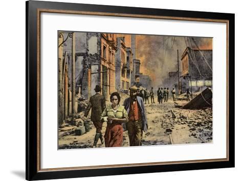 Ruined Buildings on Egnatia Street, Salonika, Greece, World War I, 1917--Framed Art Print