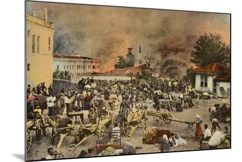 The Town of Salonika on Fire, Greece, World War I, 1917--Mounted Photographic Print