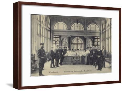Pump Room of the Kochbrunnen Thermal Spa, Wiesbaden, Germany--Framed Art Print
