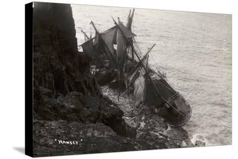Wreck of the Hansy, Housel Bay, the Lizard, Cornwall, November 1911--Stretched Canvas Print