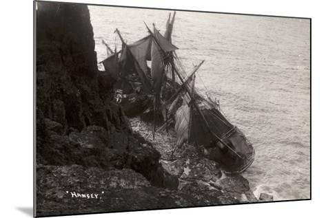 Wreck of the Hansy, Housel Bay, the Lizard, Cornwall, November 1911--Mounted Photographic Print