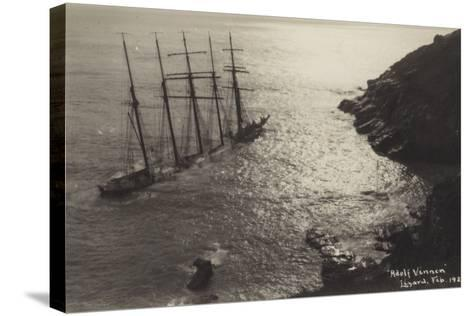 Wreck of the Adolf Vinnen, the Lizard, Cornwall, February 1923--Stretched Canvas Print
