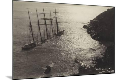 Wreck of the Adolf Vinnen, the Lizard, Cornwall, February 1923--Mounted Photographic Print