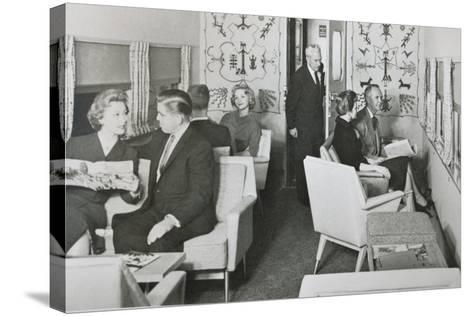 The Lounge Car of 'The Super Chief' on the Santa Fe Railway, 1950S--Stretched Canvas Print