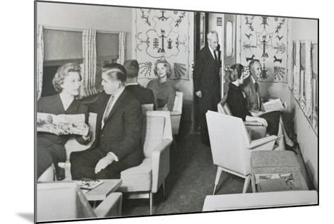 The Lounge Car of 'The Super Chief' on the Santa Fe Railway, 1950S--Mounted Photographic Print