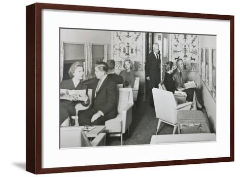 The Lounge Car of 'The Super Chief' on the Santa Fe Railway, 1950S--Framed Art Print