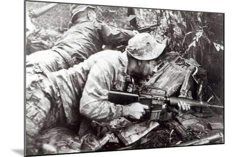 American Special Forces in Action in Vietnam, 1965--Mounted Photographic Print