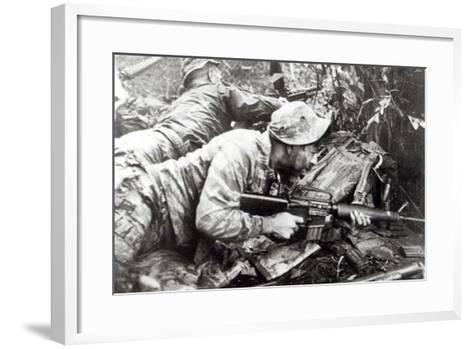 American Special Forces in Action in Vietnam, 1965--Framed Art Print