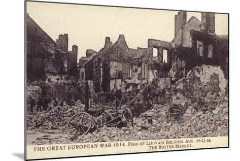 Fire Damaged Buildings, the Butter Market, Leuven--Mounted Photographic Print