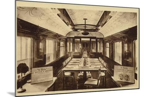 Railway Carriage in Which Was Signed the Armistice Treaty--Mounted Photographic Print
