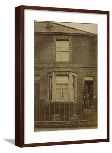 Two Women Standing in the Doorway of a Semi-Detached House--Framed Art Print
