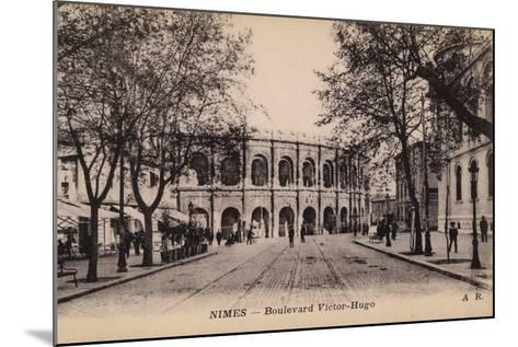 Postcard Depicting the Boulevard Victor-Hugo and the Roman Amphitheatre--Mounted Photographic Print