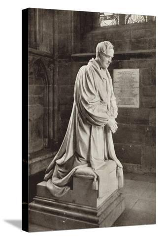 Bishop Ryder's Monument, Lichfield Cathedral, Staffordshire--Stretched Canvas Print