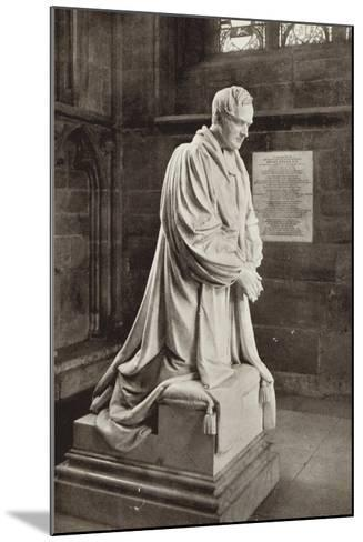 Bishop Ryder's Monument, Lichfield Cathedral, Staffordshire--Mounted Photographic Print