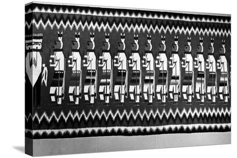 Navajo Rug Depicting Kachina and Yei Figures, 1968--Stretched Canvas Print