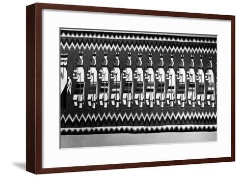 Navajo Rug Depicting Kachina and Yei Figures, 1968--Framed Art Print