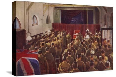 King George V Attending a Church Service with British Troops, World War I--Stretched Canvas Print