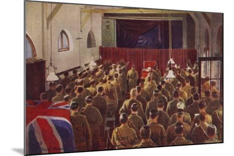 King George V Attending a Church Service with British Troops, World War I--Mounted Photographic Print