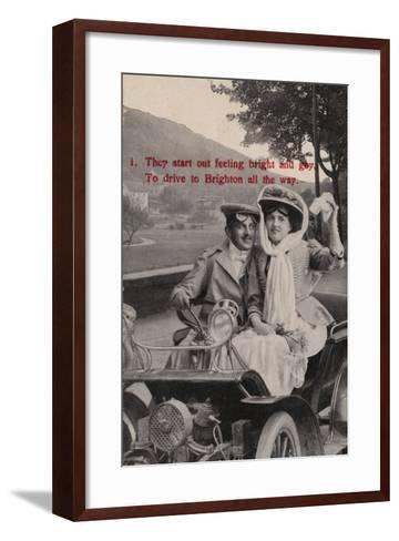They Start Out Feeling Bright and Gay, to Drive to Brighton All the Way--Framed Art Print