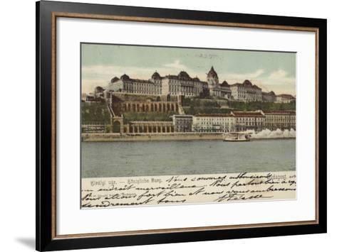Postcard Depicting the Hungarian Parliament Building--Framed Art Print