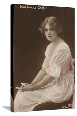 Gladys Cooper, English Stage, Film and Television Actress--Stretched Canvas Print