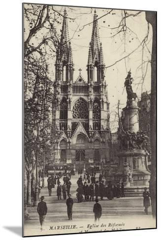 Postcard Depicting the Eglise Des Reformes and the Monument Des Mobiles--Mounted Photographic Print