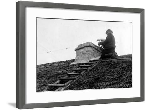 Patrick Kilcourse Pushes the Goose Down the Chimney, Early 20th--Framed Art Print