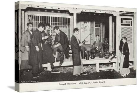 Basket Workers, Old Japan Exhibition, Earl's Court, London, 1907--Stretched Canvas Print