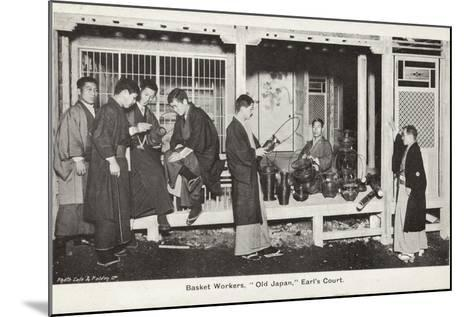 Basket Workers, Old Japan Exhibition, Earl's Court, London, 1907--Mounted Photographic Print