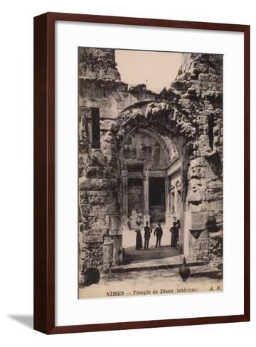 Postcard Depicting the Interior of the Temple De Diane--Framed Art Print