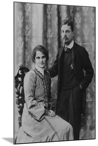 Rainer Maria Rilke and Clara Westhoff in Rome, 1903--Mounted Photographic Print