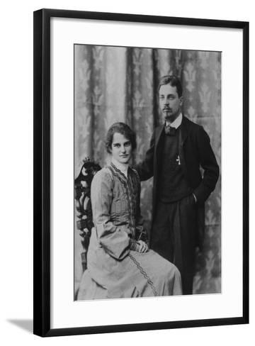 Rainer Maria Rilke and Clara Westhoff in Rome, 1903--Framed Art Print