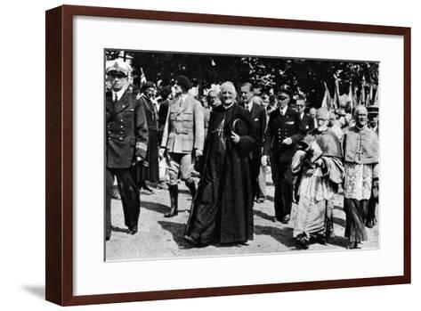 Cardinal Pierre-Marie Gerlier During a Vichy Parade, C.1940-44--Framed Art Print