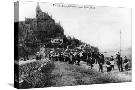 Pilgrimage of the Commune of Vains to Mont Saint-Michel, C.1910--Stretched Canvas Print