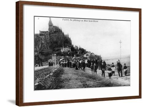 Pilgrimage of the Commune of Vains to Mont Saint-Michel, C.1910--Framed Art Print