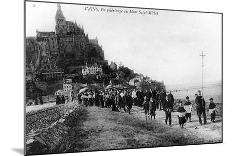 Pilgrimage of the Commune of Vains to Mont Saint-Michel, C.1910--Mounted Photographic Print