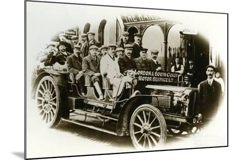 Men Only Coach Outing from the Harbour Hotel, Folkestone, C.1905--Mounted Photographic Print