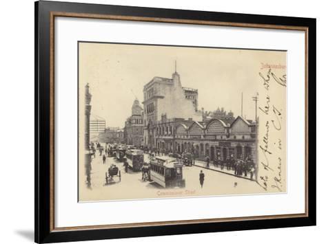 Postcard Depicting Commissioner Street in Johannesburg--Framed Art Print