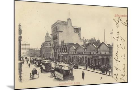 Postcard Depicting Commissioner Street in Johannesburg--Mounted Photographic Print