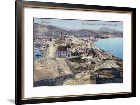 District of La Malagueta Viewed from the Lighthouse, Malaga, Spain--Framed Art Print